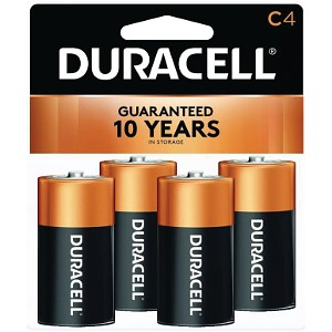 Duracell Coppertop C Size 4 Pack
