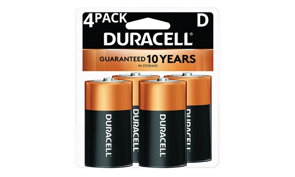 Duracell Coppertop D Size 4 Pack