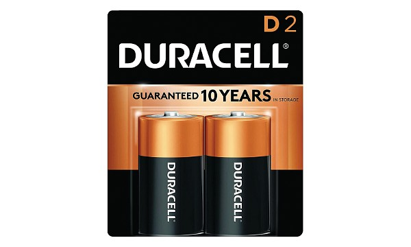 Duracell Coppertop D Size 2 Pack