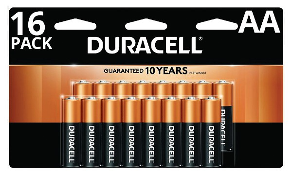 Duracell Coppertop AA 16 Pack